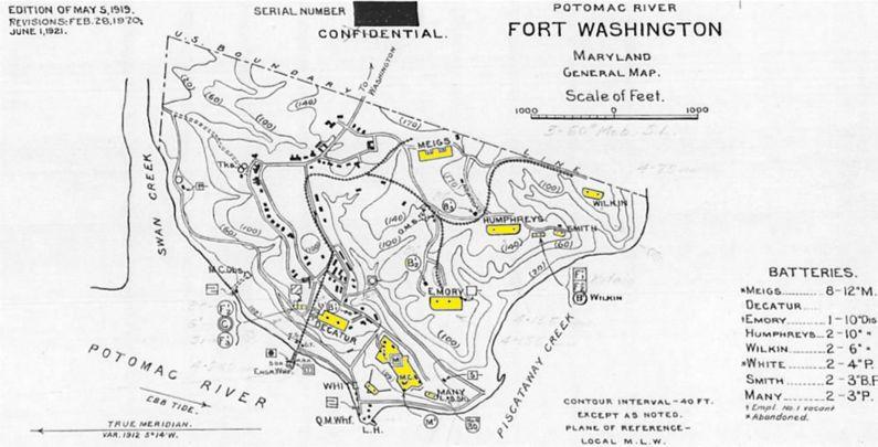 Fort Washington Map.Fort Washington 1 Fortwiki Historic U S And Canadian Forts