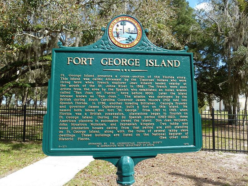 File:Fort George Island Markers - 1.jpg