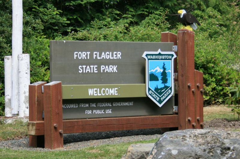 File:Fort Flagler Entrance Sign.jpg