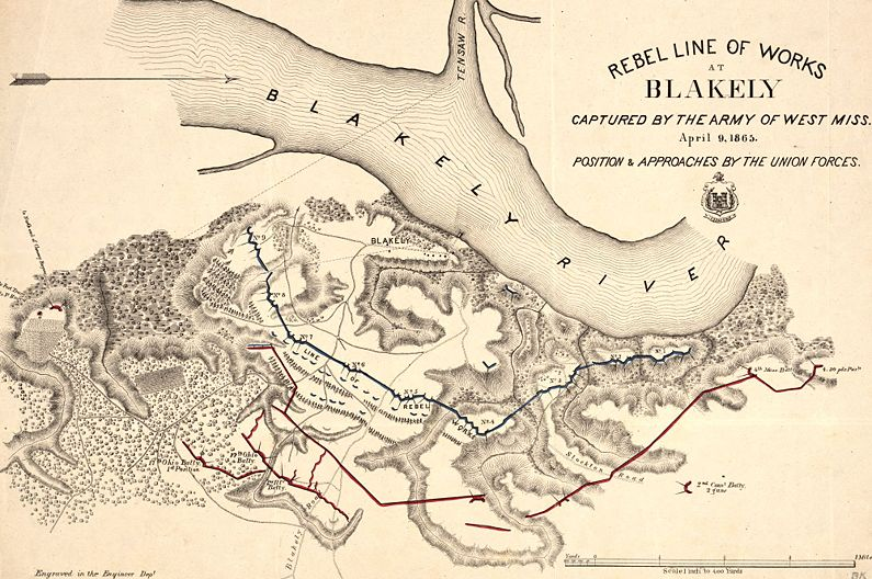 Fort Blakeley Pan And Campaign Map