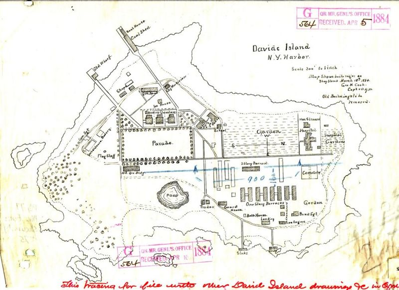 File:Map 1884 18 mar Davids Island RG77 misc forts no 25.jpg