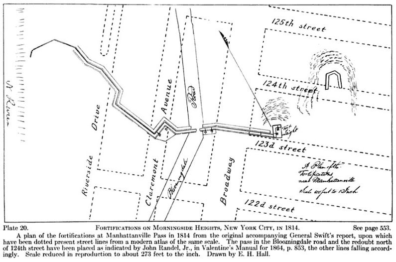 Fortifications At Morningside Heights 1814