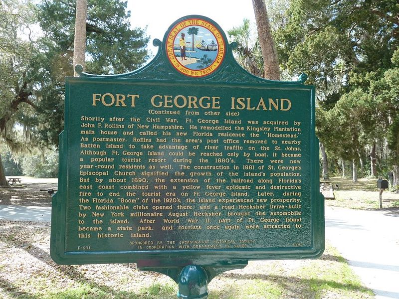 File:Fort George Island Markers - 2.jpg